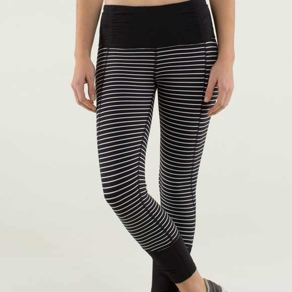 448eadc2b7 lululemon athletica Pants - Lululemon Runday Race Strip Crop leggings
